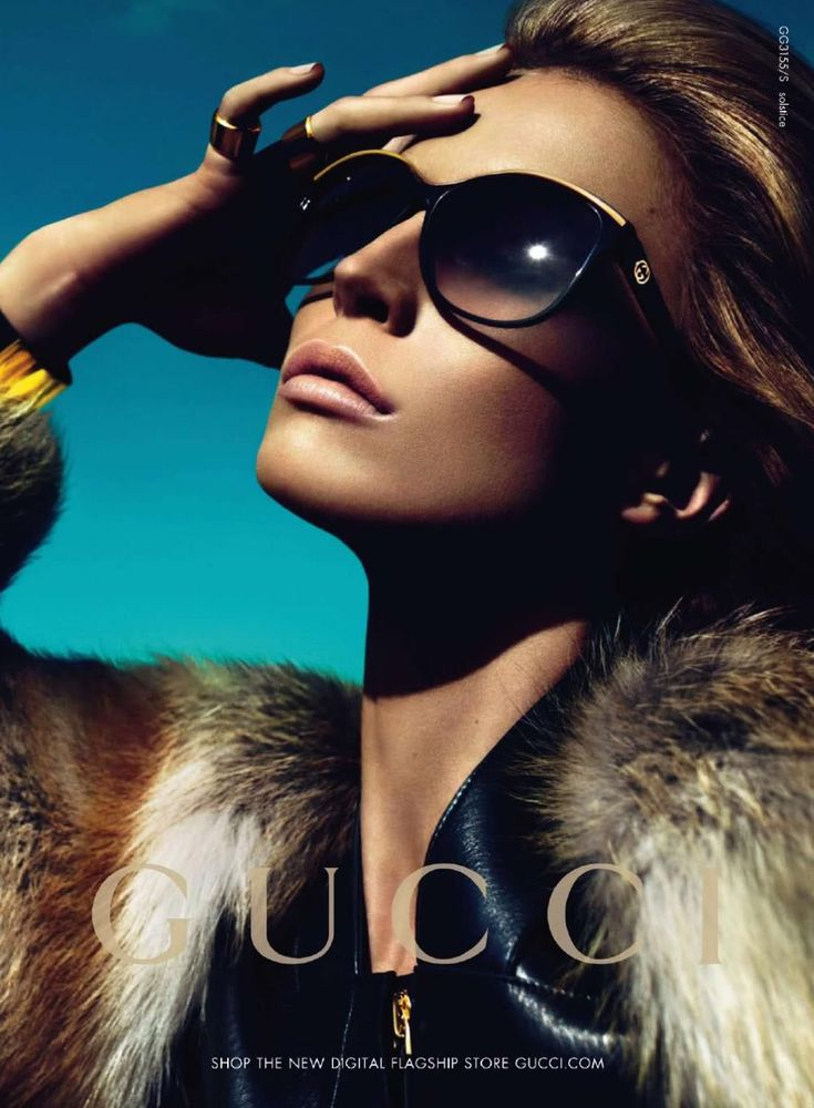 Gucci's FW 10/11 eyewear campaign photographed by Mert Alas and Marcus Piggott.