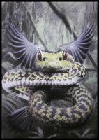 Dragon of the amazon Quetzalcoatl by FredrikEriksson1