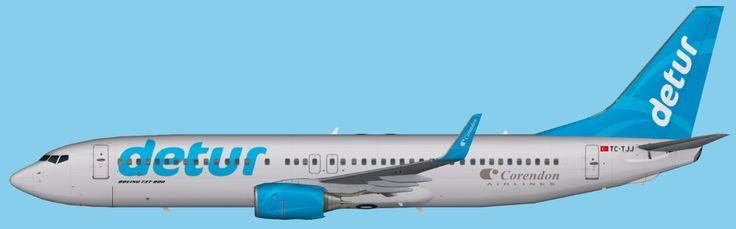 Corendon Airlines Boeing 737-800 Winglets Detur FS9