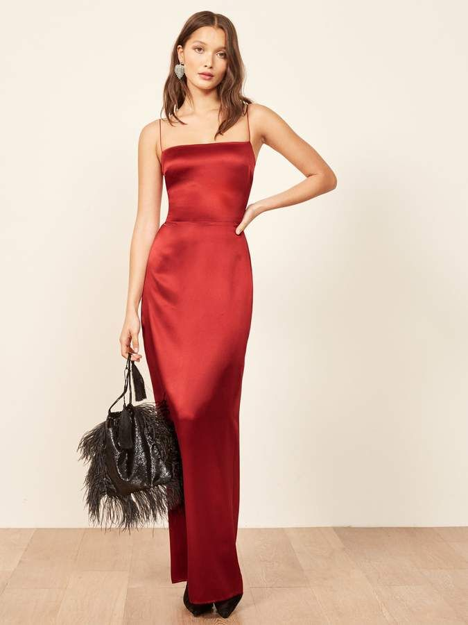 34f613b36448fe Reformation Frankie Dress Long Silk Dress