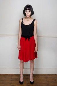 Vintage red pleated skirt - Skirts - Womens Vintage   Retro & Vintage Clothes UK
