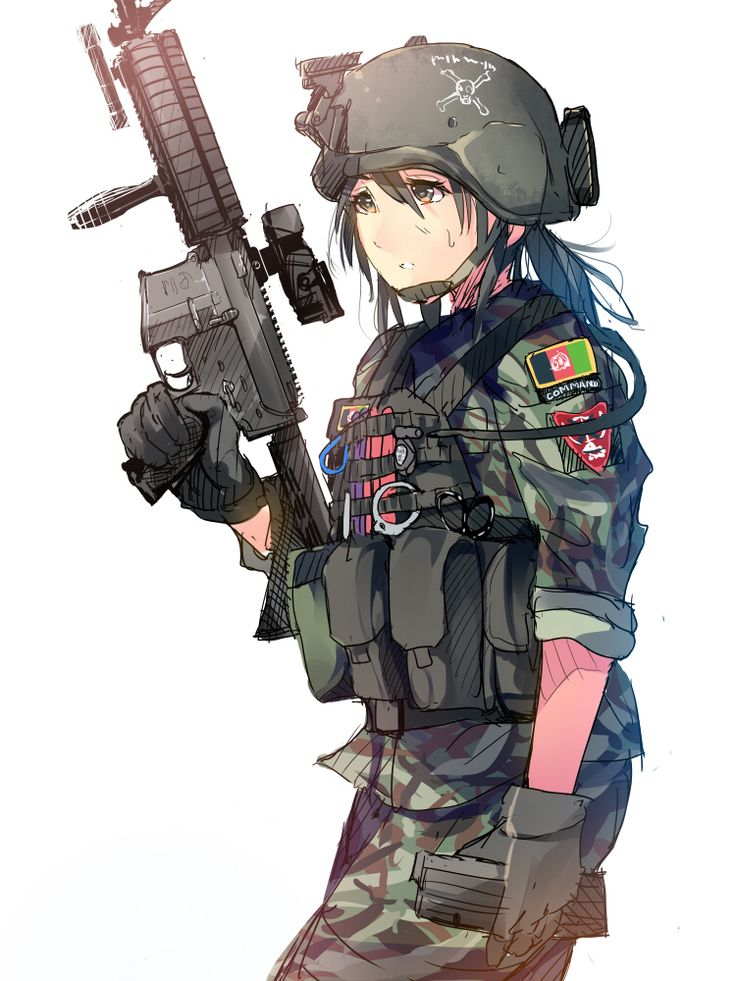 AnimeGirl#Gun | Art | Pinterest | Guns, Anime and Originals