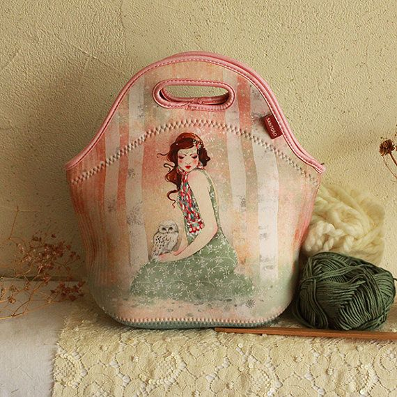 Lunch Bag / Work Bag - Mademoiselle Snow