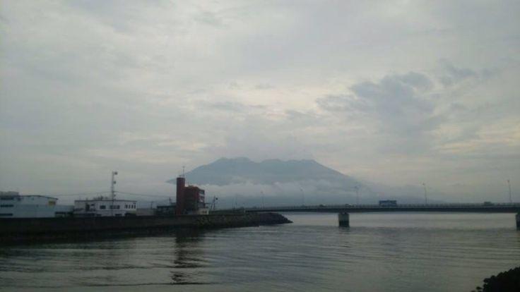 おはようございます(^O^)/  今日の櫻島です。  錦織圭選手、ベスト4進出おめでとうございます!96年ぶりの快挙!スゴイ!  それにしても、96年前に日本人がベスト4進出したことが、あったこともスゴイと思うのは僕だけでしょうか?  今日も一日、元気に楽しんでいきましょう!
