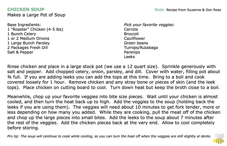 We're back with another Ross family classic recipe to share with you - homemade chicken soup.  Check out TBBB for Don's Cook Nook featuring this recipe!