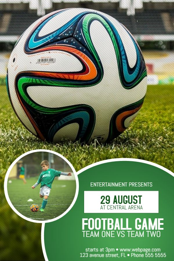 20 best Sports Poster Templates images on Pinterest Poster - soccer flyer template