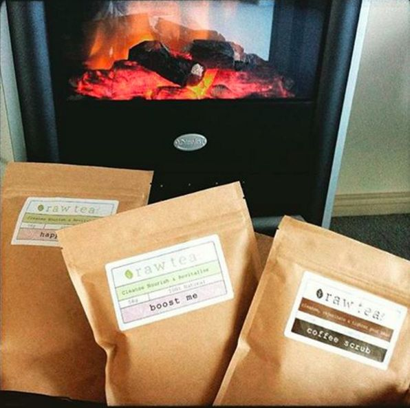Settle in front of the fireplace and take your pick of delicious, healthy teas.