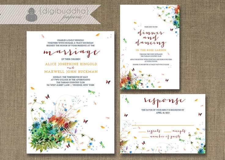 Cheap Butterfly Wedding Invitations: 1800 Best Images About Butterfly Wedding Invitations On