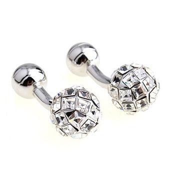 Deks Bros White Crystal Staylish Kol Düğmesi-Taşlı Kol Düğmeleri-DEKS BROS-DEKS BROS WHITE CRYSTAL STAYLISH KOL DÜĞMESİ-Taşlı Kol Düğmeleri-DEKS BROS-Kol Düğmesi, Kravat, Gömlek, hediye ve tüm aksesuar çeşitleri
