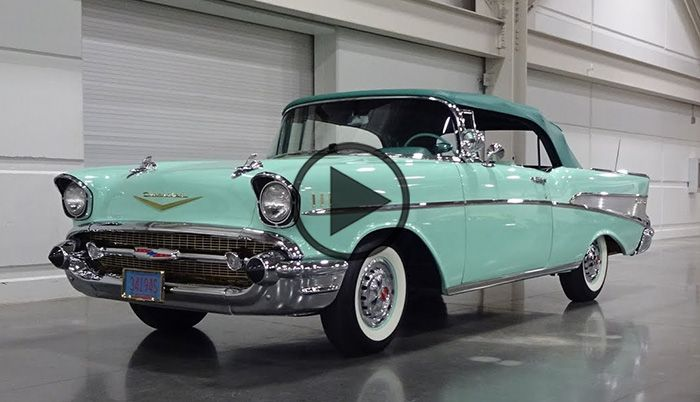 1957 Chevrolet Bel Air Convertible in Surf Green - https://www.musclecarfan.com/1957-chevrolet-bel-air-convertible-surf-green/