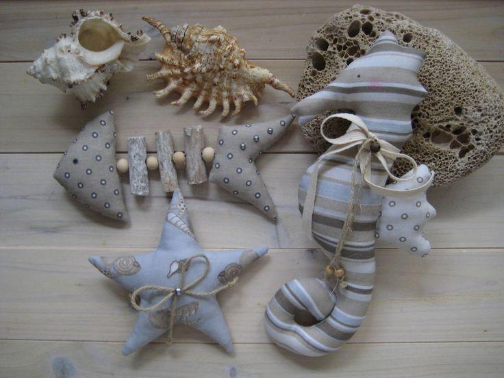 Seepferd Seestern Tilda Stoff Handarbeit maritim Treibholz Gräte Muschel Deko  | Möbel & Wohnen, Dekoration, Dekofiguren | eBay!