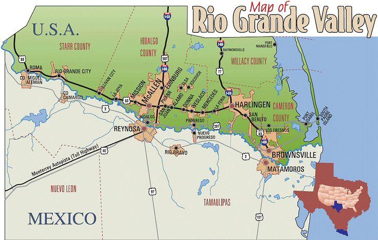 A Map Of El Valle Rio Grande Valley Pinterest Rio Grande - Map of the rio grande river