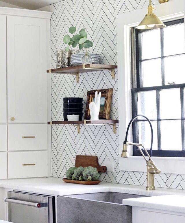 Subway Tile Kitchen Dark Grout: 25+ Best Ideas About White Tiles Black Grout On Pinterest