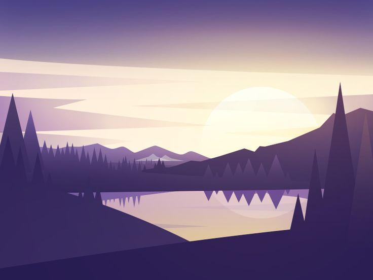 scenery by Rwds #Design Popular #Dribbble #shots