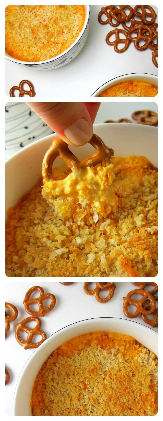 Buffalo Chicken Cheese Dip, with a crispy panko breading topping. Perfect for the #superbowl, or for a fancier party when you don't want to get wing sauce all over your fingers but still want the yummy buffalo sauce flavor :)  from http://www.babaganosh.org
