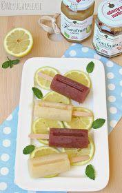 No sugar please...: Ghiaccioli senza zucchero al limone e mirtillo con Fiordifrutta e menta