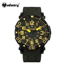 INFANTRY Mens Watches 2016 New Hot Fashion Casual Men's Quartz Watch Military Sport Relojes Clock Round Watch Marine Corps(Hong Kong)