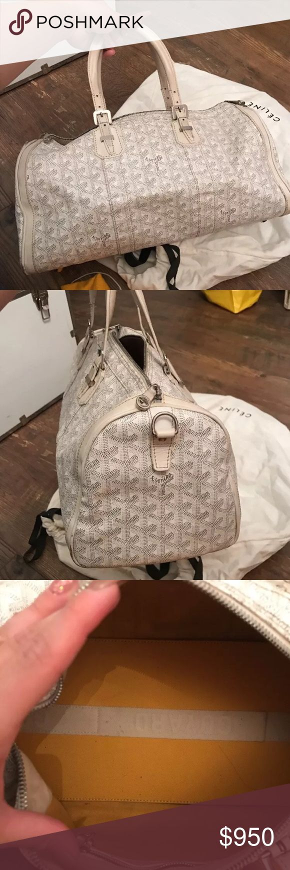 Goyard Croisiere 35 white handbag 100% authentic with dust bag. Purchased at Barneys. Loved Goyard Bags Satchels