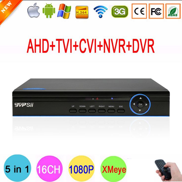 Blue Ray XMeye Hi3521A 16 Channel 16CH 5 in 1 Coaxial Hybrid 1080N CVI TVI NVR AHD DVR Surveillance Video Recorder Free Shipping