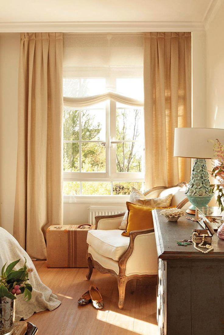 17 mejores ideas sobre cortinas para ventana de esquina en - Estor con cortina ...