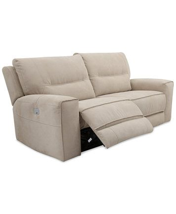 Genella Power Reclining Sofa With Headrest And USB Outlet