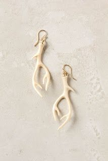 Polymer clay antler earrings...I'd rather do spray painted twigs!