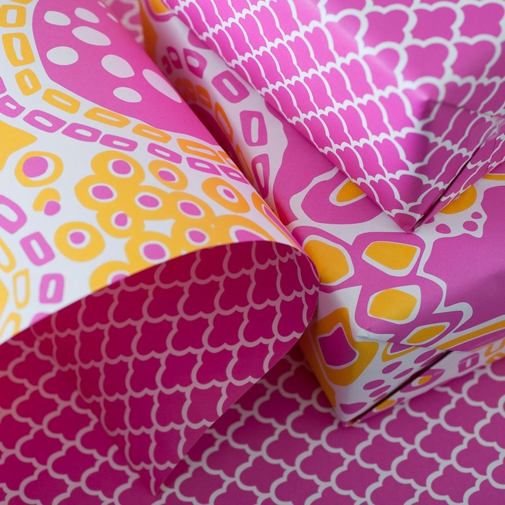 Double-Sided Wrapping Paper - love the colors and patterns! Oh my! Beautiful.