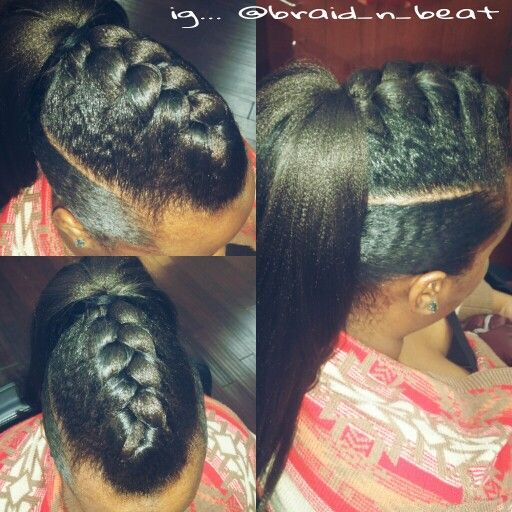 Goddess Braid Ponytail Updo By Ig Braid N Beat