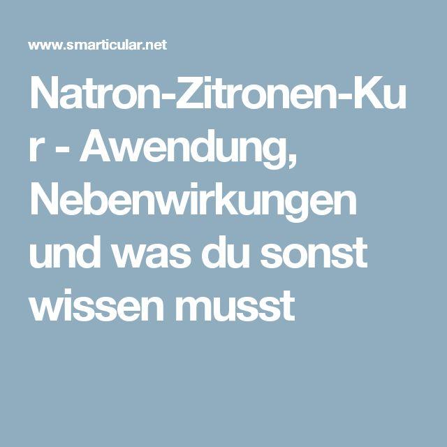 Natron-Zitronen-Kur - Awendung, Nebenwirkungen und was du sonst wissen musst
