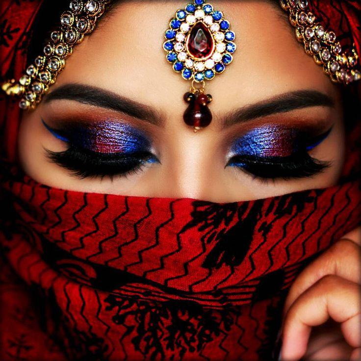 Famoso Oltre 25 fantastiche idee su Trucco degli occhi indiano su  NT41