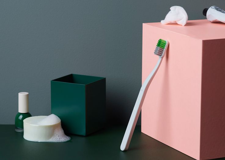 """Norwegian designer Andreas Engesvik has created a minimal toothbrush that """"will look good in any bathroom"""" for Danish brand Hay"""