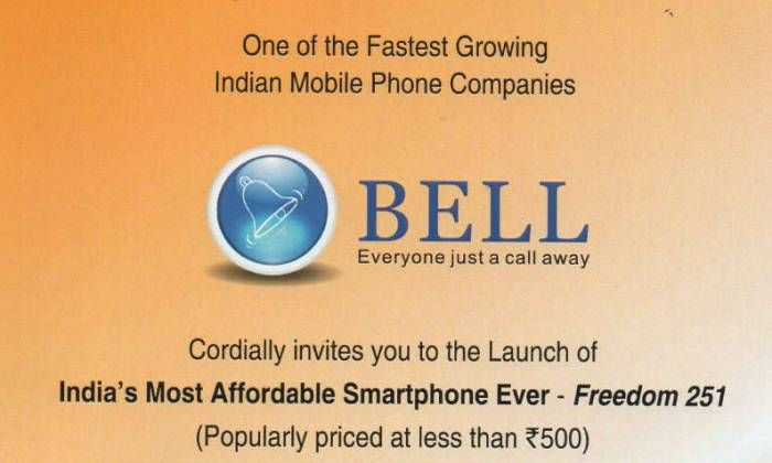 Want to Buy a 500INR Smartphone? Ringing Bell is Launching one!