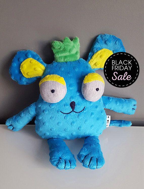 Black Friday Sake 20% off Mouse by Kakuma - Stuffed animals & plushies, christmas and birthday gift, kids, toy play by KAKUMAstore on Etsy