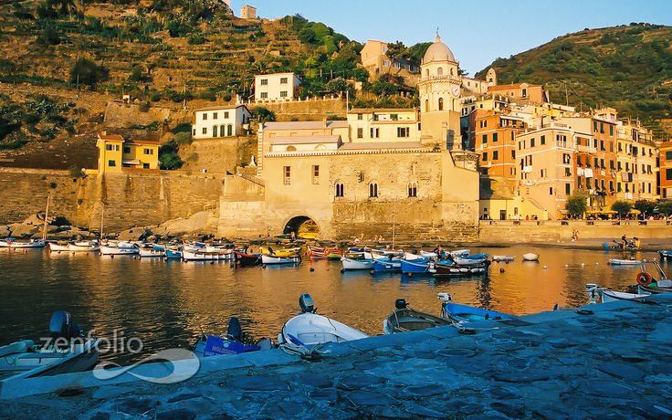 Vernazza, Italy, at Sunset