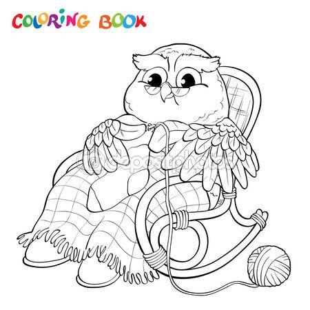 Libro de colorear viejo b ho en silla tejer un calcet n for Sillas para colorear