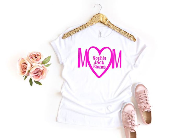 Mom Shirt with Kids Names – Mommy Shirt with Kids Names –  Personalized Mom Shirt – Mothers Day Shirt – Mothers Day Gift from Kids – Mommie by ASparklyChicBoutique on Etsy