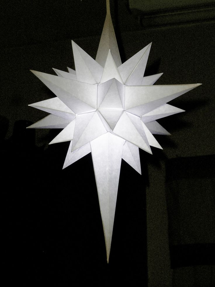 How to Make a Paper Star of Bethlehem.This one can be illuminated.