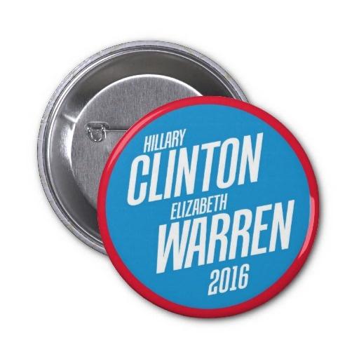 Hillary Clinton - Elizabeth Warren 2016 Button