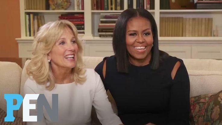 Michelle Obama & Dr. Jill Biden On Their Husbands' Bromance & More | PEN | Entertainment Weekly.