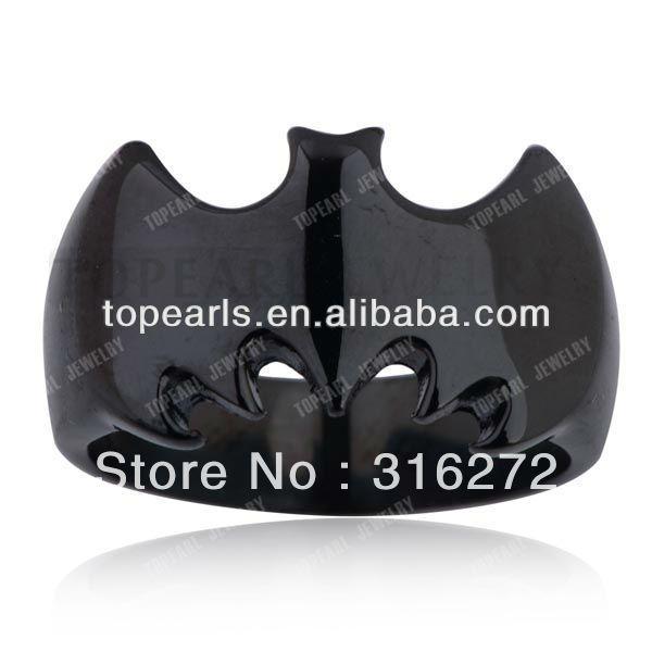 Topearl ювелирные изделия 3 шт. черный нержавеющая сталь бэтмен кольцо MER232