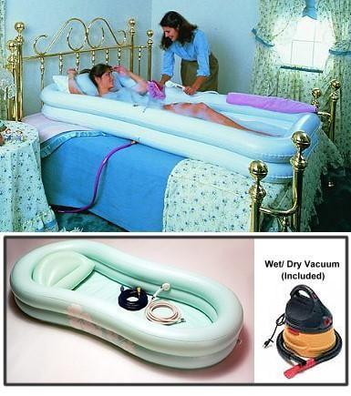 Ez Bathe Inflatable Adult Bathtub Portable Bed Bathing