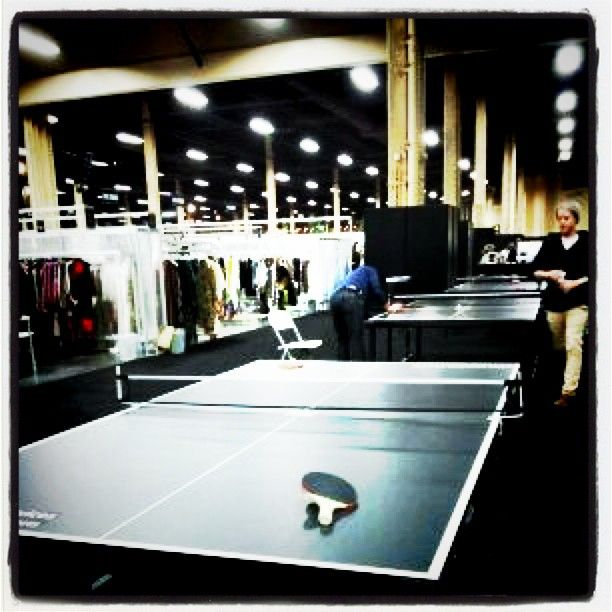 Gotta take a break from the browsing and buying, to play a bit of ping pong! www.ourchoix.com