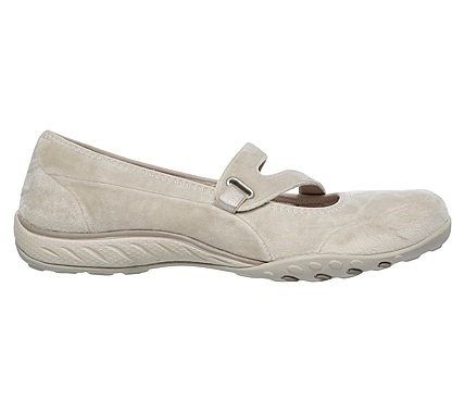 Skechers Women's Breathe Easy Lavish Days Relaxed Fit Mary Jane Flat Shoes (Natural/Natural)