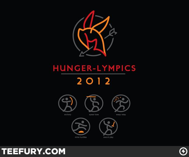 Hunger-Lympics by WinterArtwork - $10 shirt sold on March 23rd at http://teefury.com - More by the artist at http://winterartwork.tumblr.com