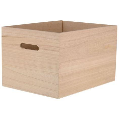 Låda TRÄ. 35x27x22 cm. Förvaringslåda av trä. Finns även i andra storlekar.