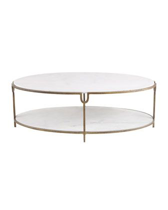 Global Views Olivia Marble Top Coffee Table Horchow