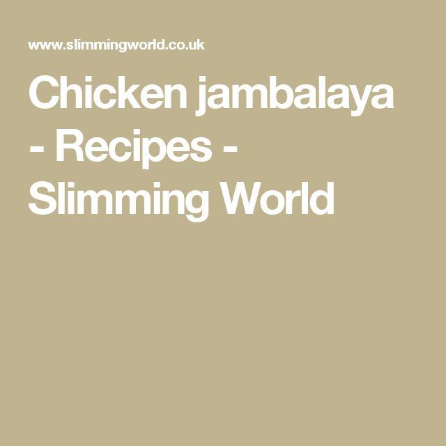 Chicken jambalaya - Recipes - Slimming World