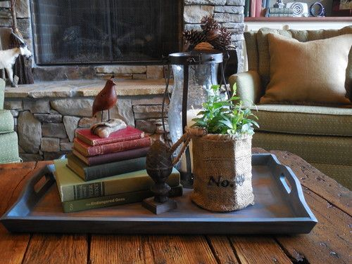 Putting things together beautiful ...using trays.  7 Ways to Decorate with Trays