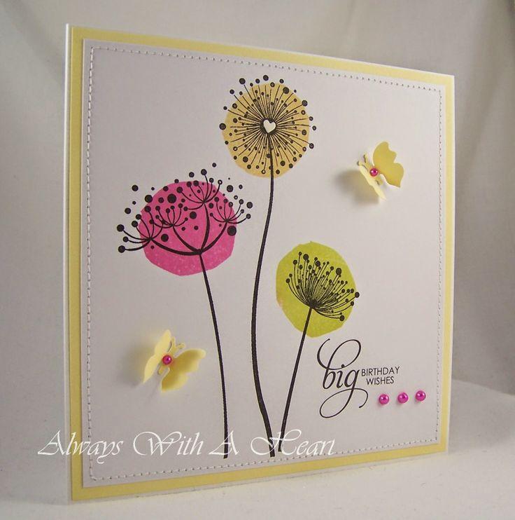 Beautiful Flower Card Making Ideas Part - 12: Always With A Heart. Flower StampFlower CardsCraftwork ...