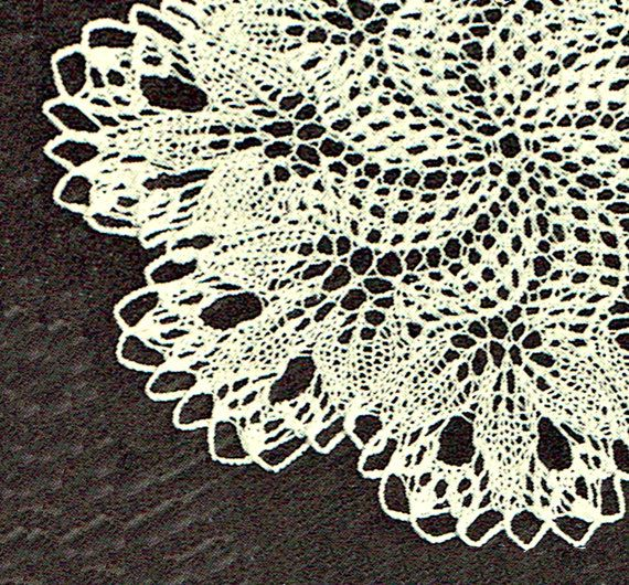 PDF Vintage 1950s Filigree 'Snowflake' Lace by TheAtticofKitsch
